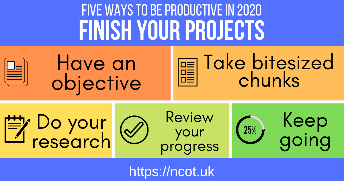 Five ways to be productive and finish your projects